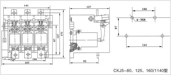 ckj5-125/1140交流真空接触器主要技术参数